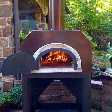 Chicago Brick Oven Cbo-750 Outdoor Wood Fired Pizza Oven On Cart - Copper