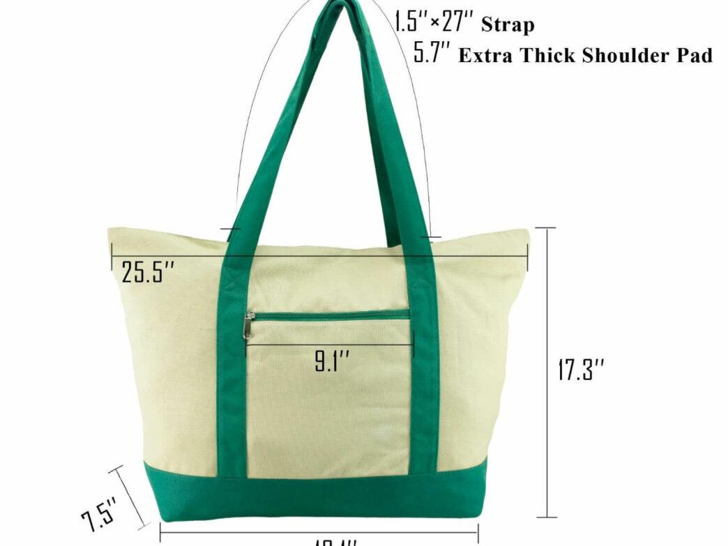 100% Natural 16oz Canvas Grocery/Multipurpose Bag
