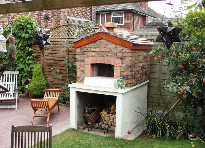 brick wood fired oven