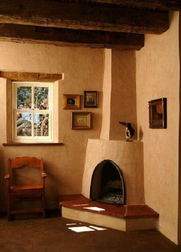 cob fireplace