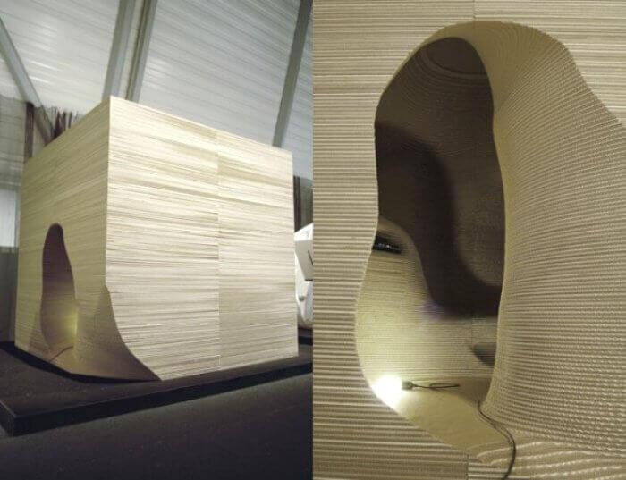 cardboard room