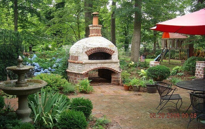 Outdoor Brick Pizza Oven