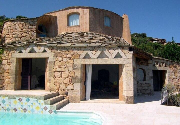 modern stone house