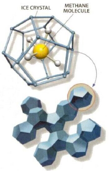 methane ice crystal