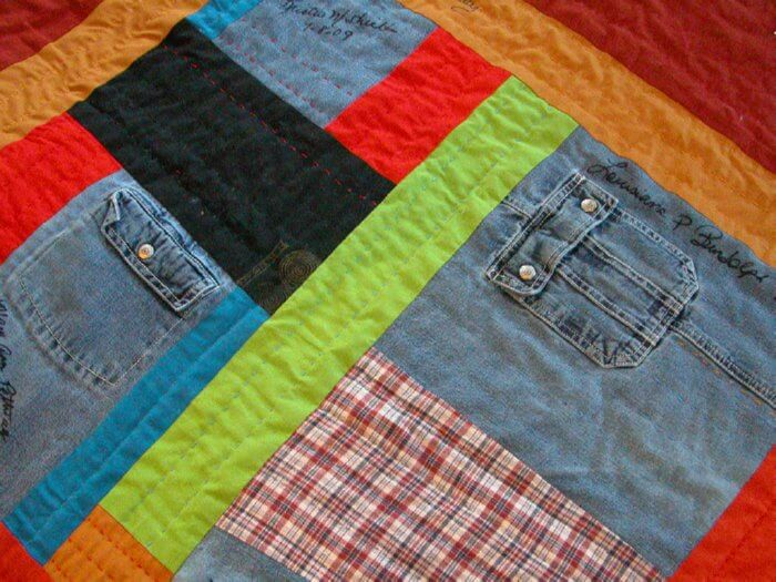 old clothes quilt