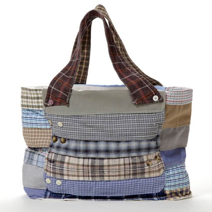 recycled shirt purse