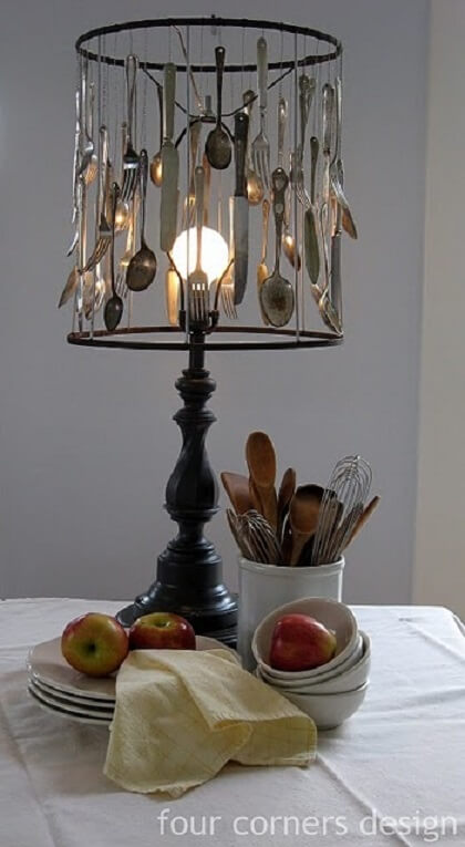 Fork and Spoon lamp