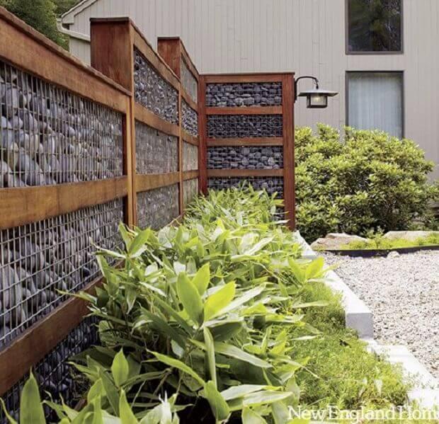 stone gabion fence
