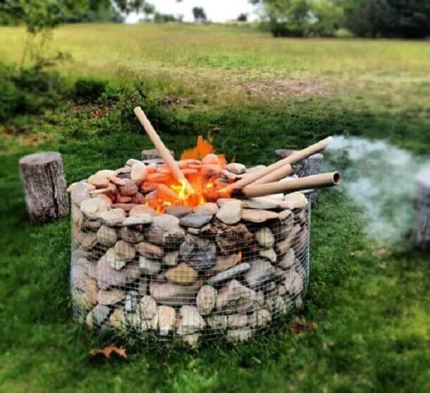 gabion fire pit