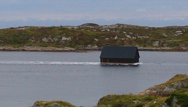 floating boathouse