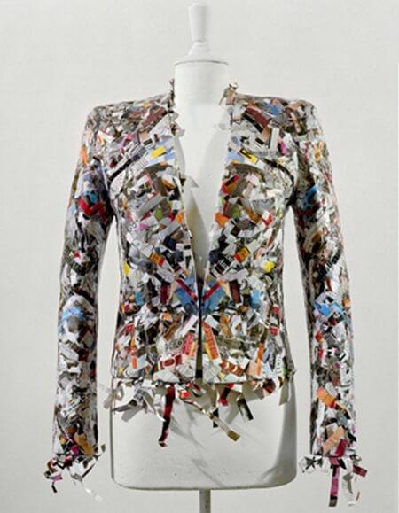 shredded paper jacket