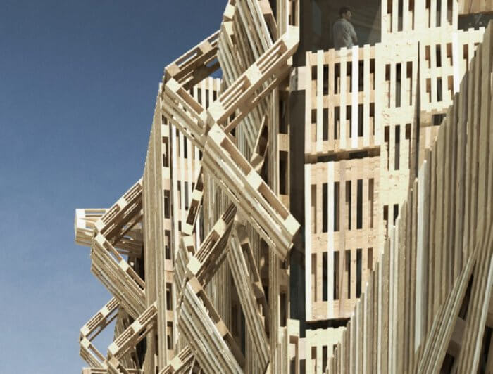 pallet wood architecture