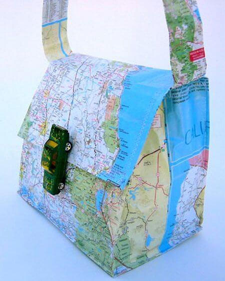 map handbag