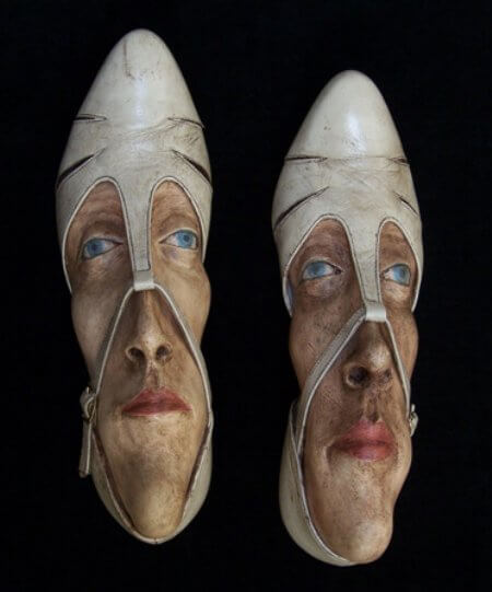 reuse shoe art