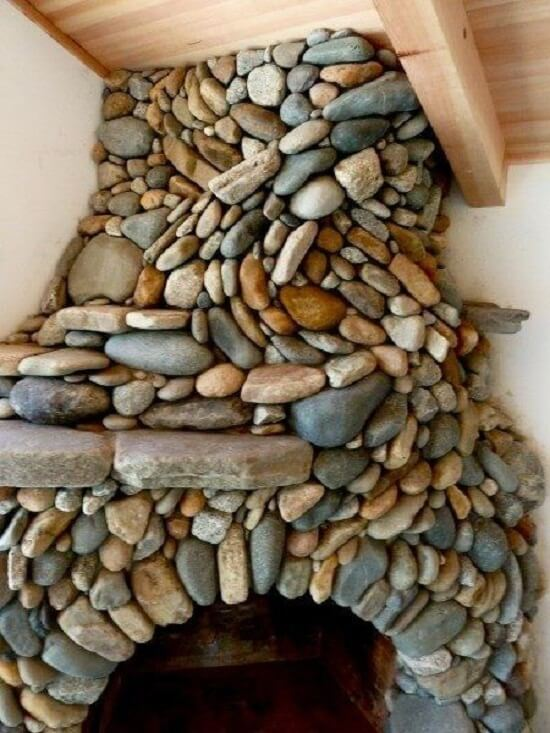 Sensational River Rock Fireplace Insteading Download Free Architecture Designs Jebrpmadebymaigaardcom