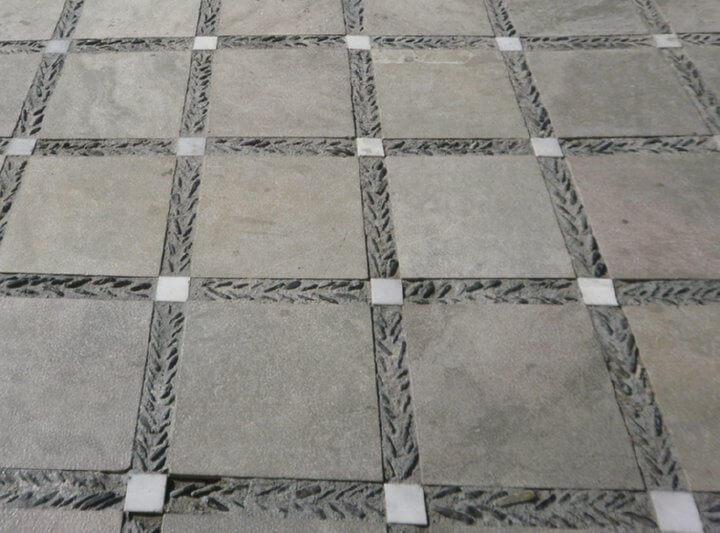 pebble mosaic patio