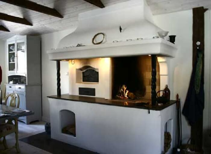 pizza oven in kitchen