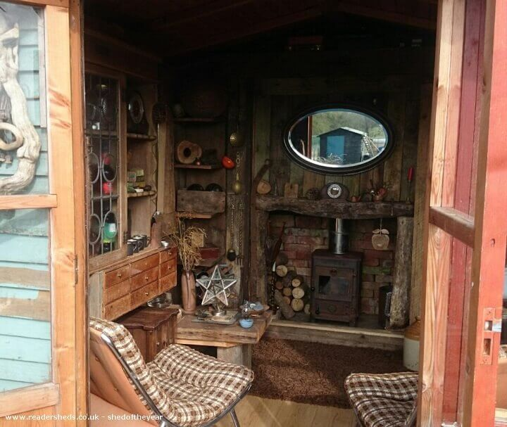 recycled wood shed