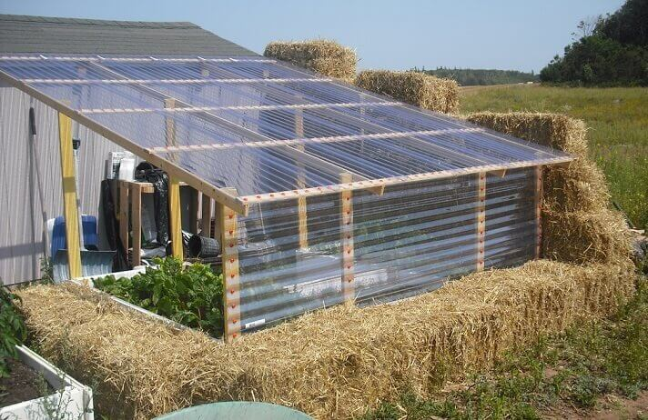Straw Bale Greenhouses Insteading