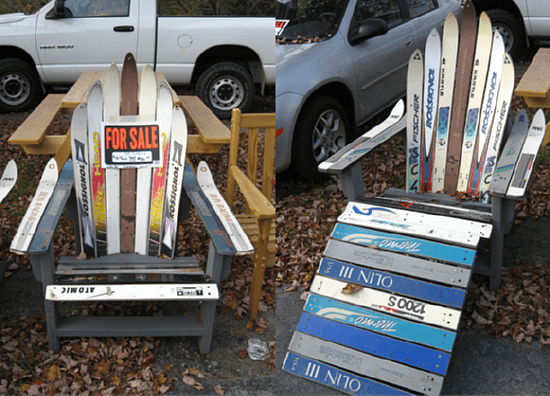 chair made from skis