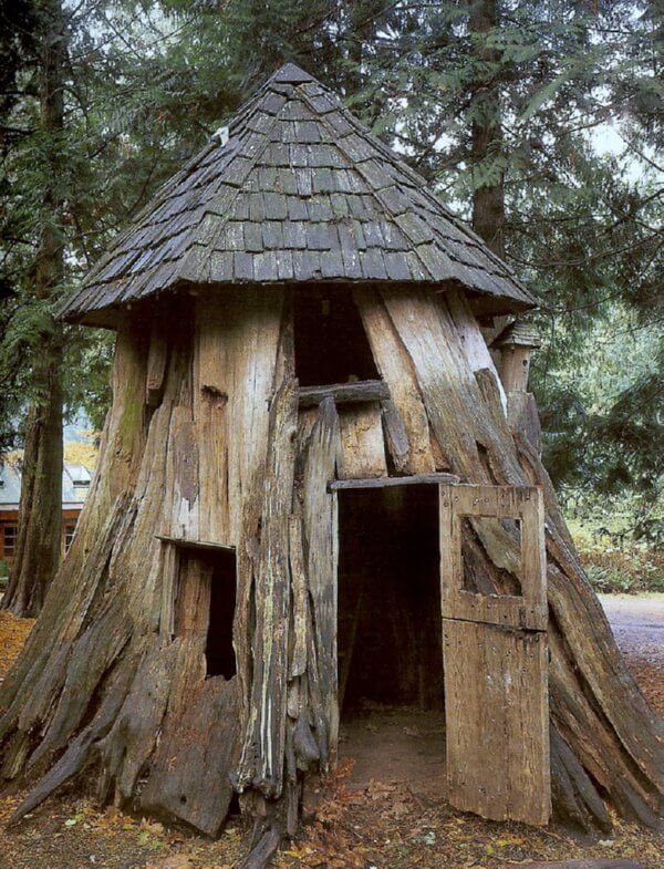 tree stump house