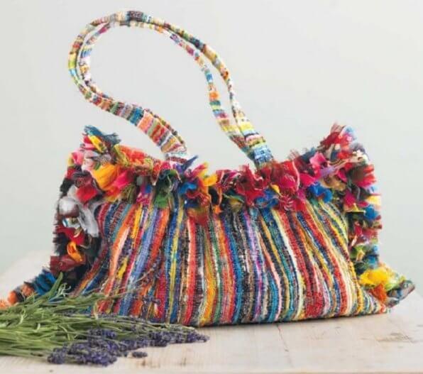 handbag made from rags