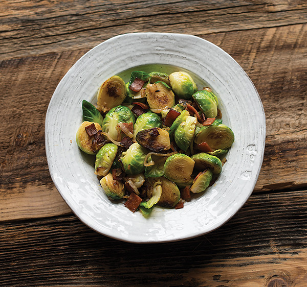 Vegans love bacon, too! Read an interview with Baconish author, Leinana Two Moons, and grab the Brussels sprouts with bacon recipe from the book.
