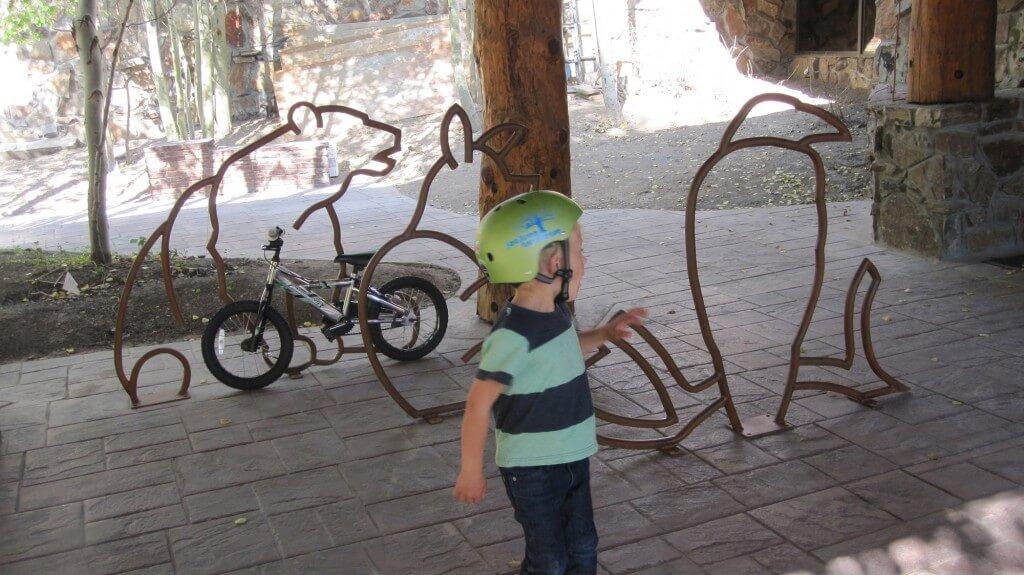 Animal shaped bike racks