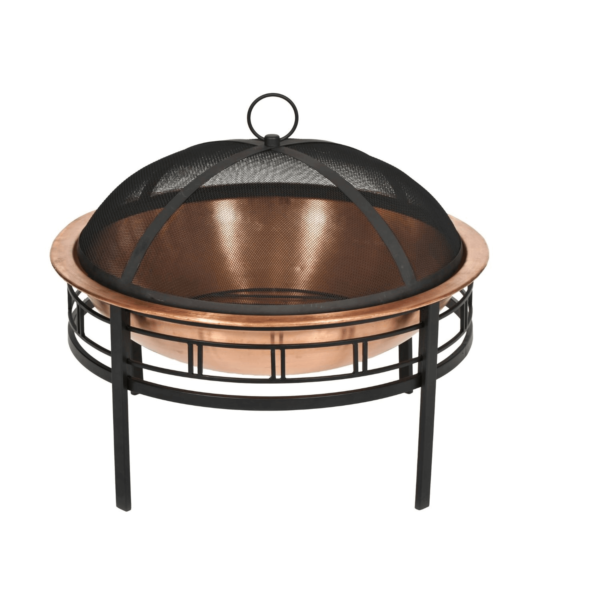 This shiny copper pit can brighten up any yard or patio. Photo via CobraCo.