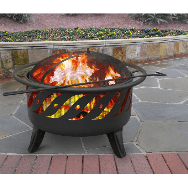 This Alternative Pattern On A Standard Style Fire Pit Suggests Movements  Within The Flames.