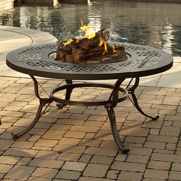 Gentil Wide Table Fire Pit. Offering One Of The Largest Surface Areas We Found To  Set Drinks On, This Circular
