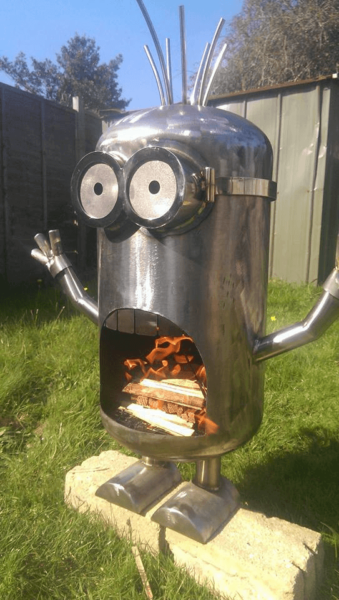 Create some Minion Madness in your own backyard. Photo via MetalArtandFabs.