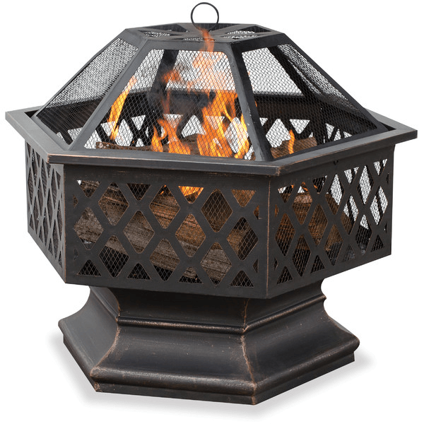 Lattice And Pedestal Fire Pit. The Lattice And Pedestal Offer An Option  That Is Already Off The Ground, Bring The