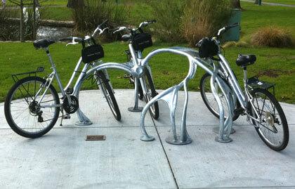 Sonoma valley bike rack art