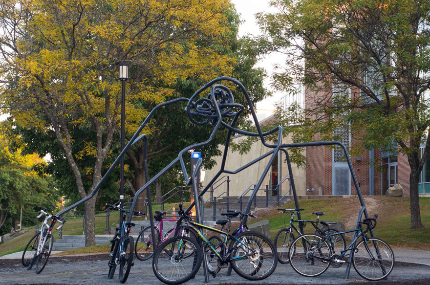 Space Elephant Bike Rack at the University of New Hampshire