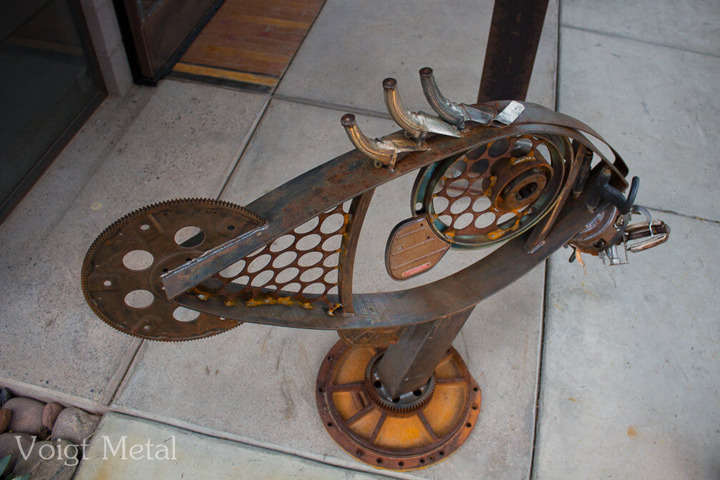 This gorgeous fish-inspired steampunk-esque sculpture is actually for sale on etsy.com by Voigt Metal.