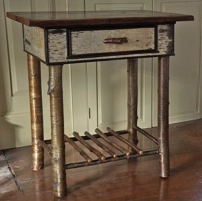 birch-bark-side-table