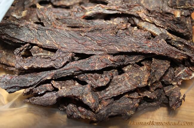 dehydrator recipes: beef jerky from strips of beef