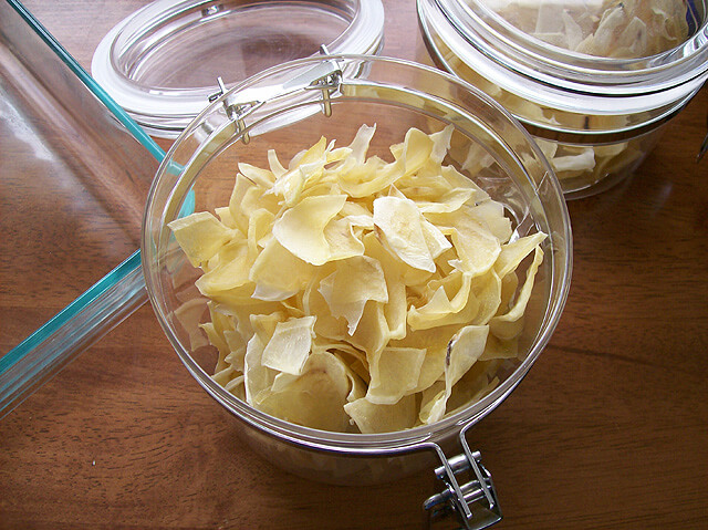 dehydrator recipes: potato flakes in jar