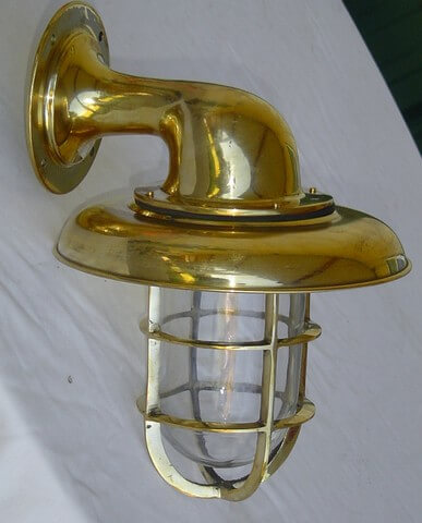 Antique Brass Bulkhead Outdoor Sconce