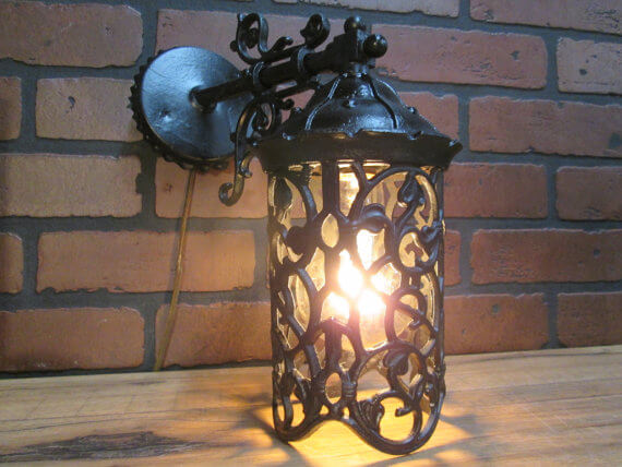 Antique Spanish Revival Outdoor Sconce