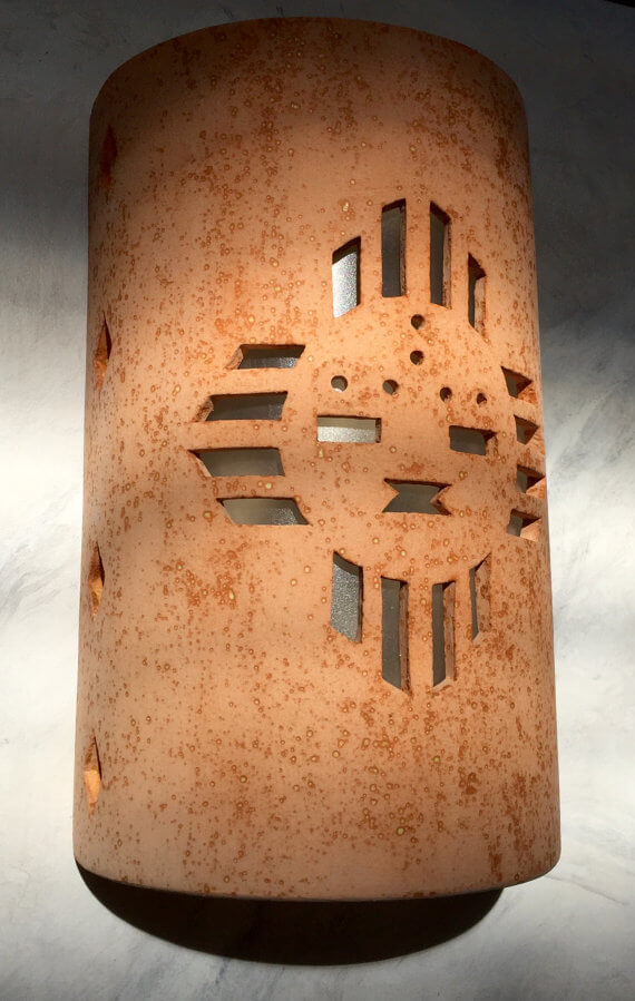 Ceramic Southwestern Sun Outdoor Sconce