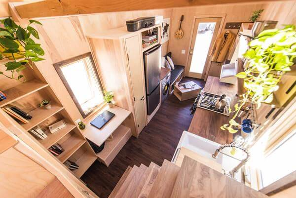 tumbleweed tiny house farallon design interior