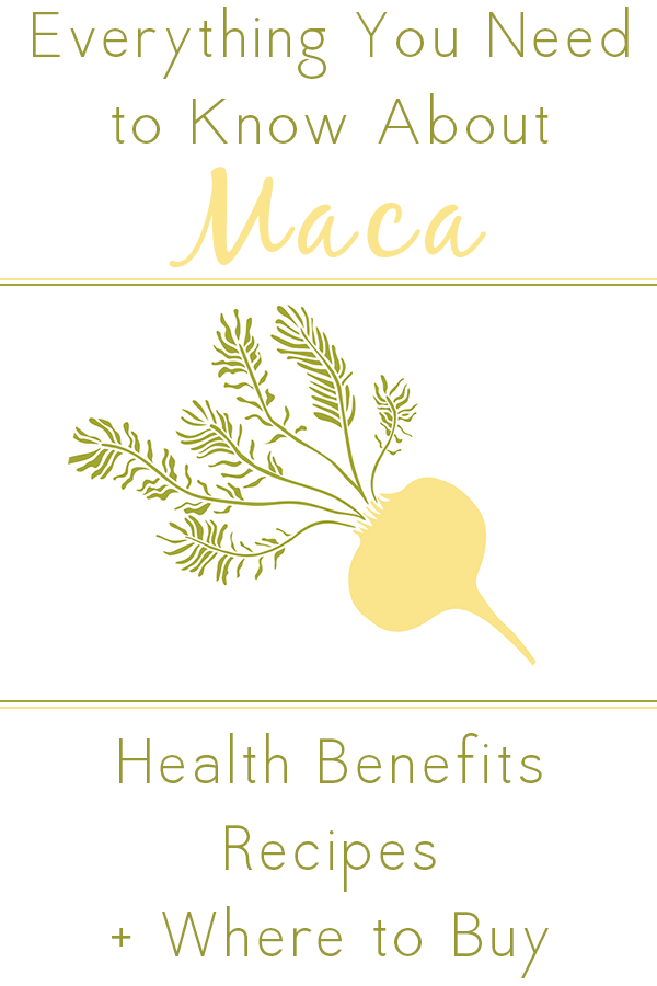 Maca is one of my favorite supplements. Learn the health benefits of maca plus my favorite maca recipes and where to buy this healthy superfood.