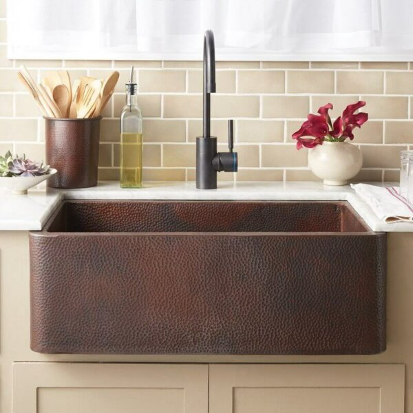 copper sink by native trails