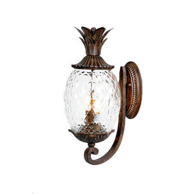 Glass Pineapple Outdoor Sconce