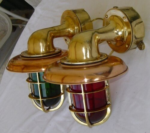 Port & Starboard Nautical Outdoor Sconces