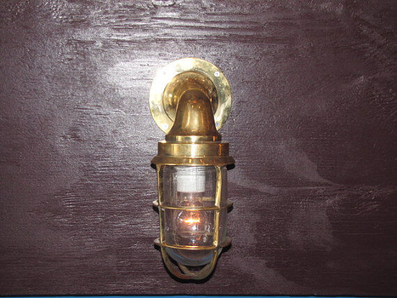 Vintage Nautical Outdoor Sconce