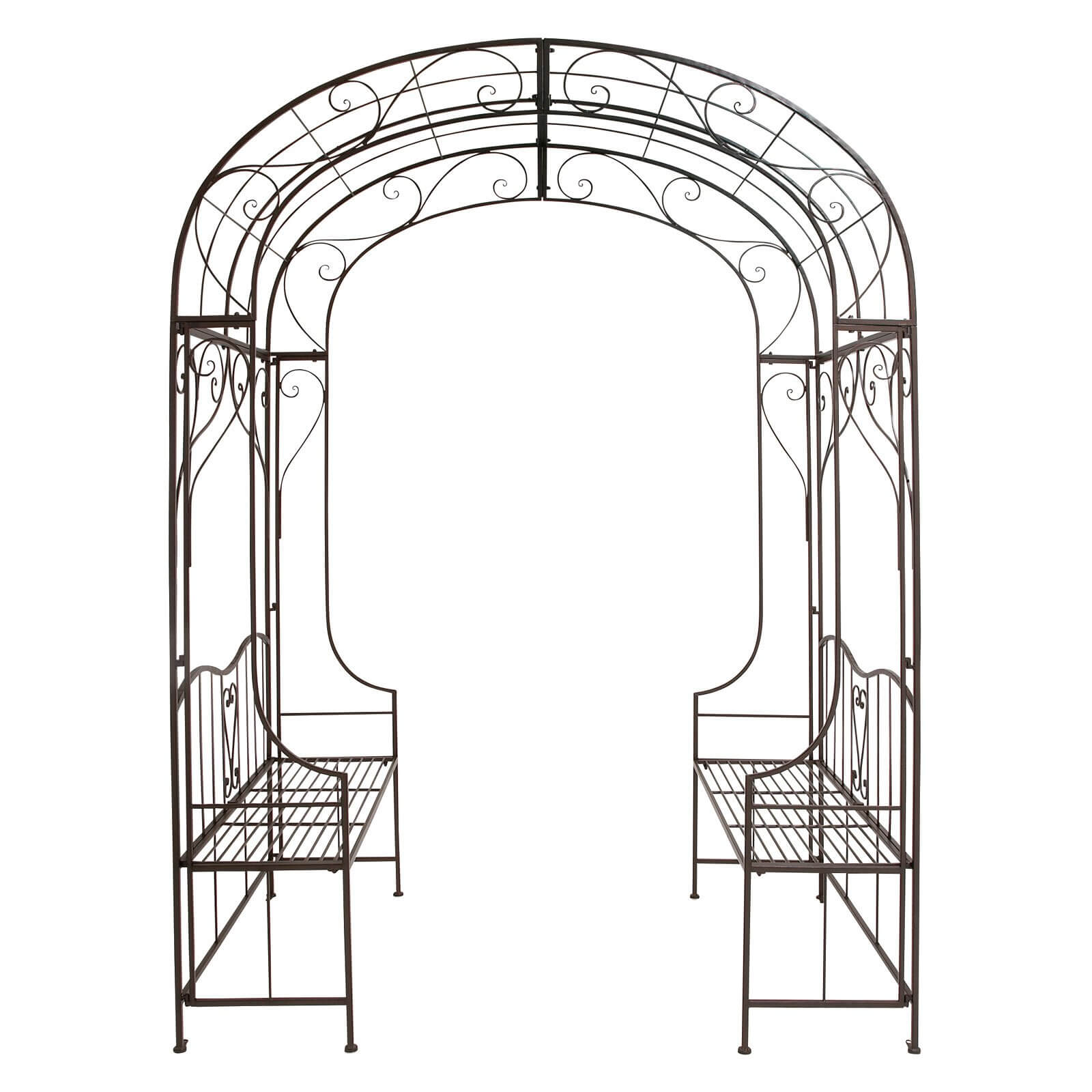 Arch Arbor with Bench