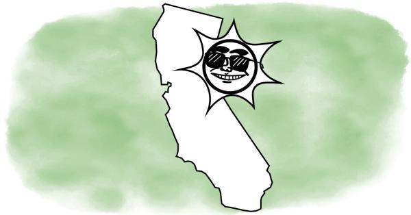 california bathing in sun